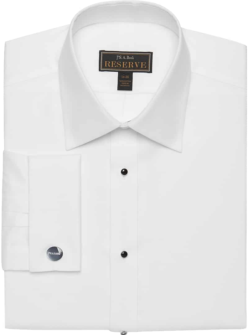 Reserve Collection Traditional Fit Point Collar Formal Dress Shirt
