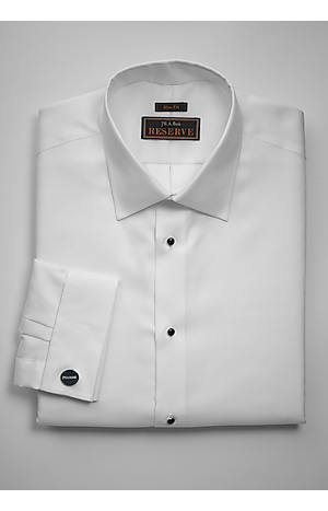 Men's Special Categories, Reserve Collection Slim Fit Spread Collar French Cuff Formal Dress Shirt - Jos A Bank