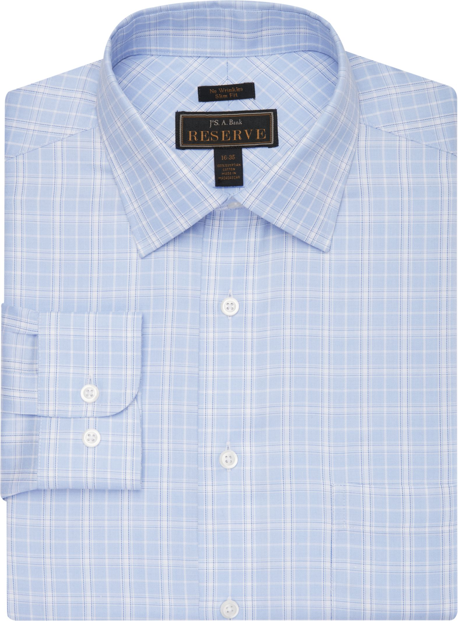 Details about  /Cooper /& Stewart Classic Fit Non-Iron Neat Check Spread Collar Dress Shirt Blue