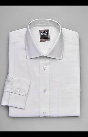 Men's Shirts, Travel Tech Collection Slim Fit Spread Collar Dress Shirt - Jos A Bank