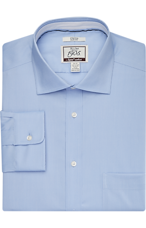 Men's FLYOUT_COLLECTION, 1905 Collection Slim Fit Spread Collar Dress Shirt with brrr°? comfort - Big & Tall - Jos A Bank