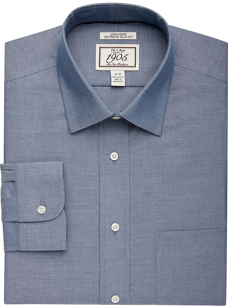 1905 Collection Extreme Slim Fit Spread Collar Dress Shirt - Big & Tall