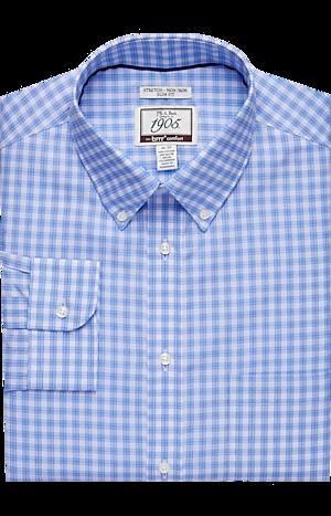 Men's Shirts, 1905 Collection Slim Fit Button-Down Collar Plaid Dress Shirt with brrr°? comfort - Jos A Bank
