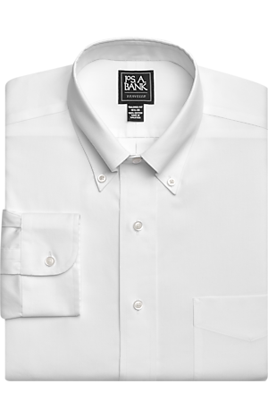 Men's Sale, Traveler Collection Tailored Fit Button-Down Collar Dress Shirt - Jos A Bank
