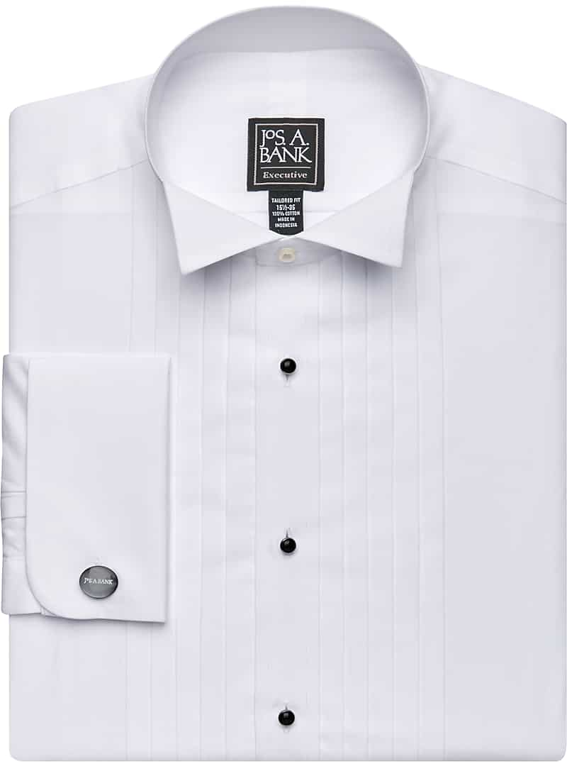 Executive Collection Tailored Fit Wing Collar French Cuff Formal Dress Shirt