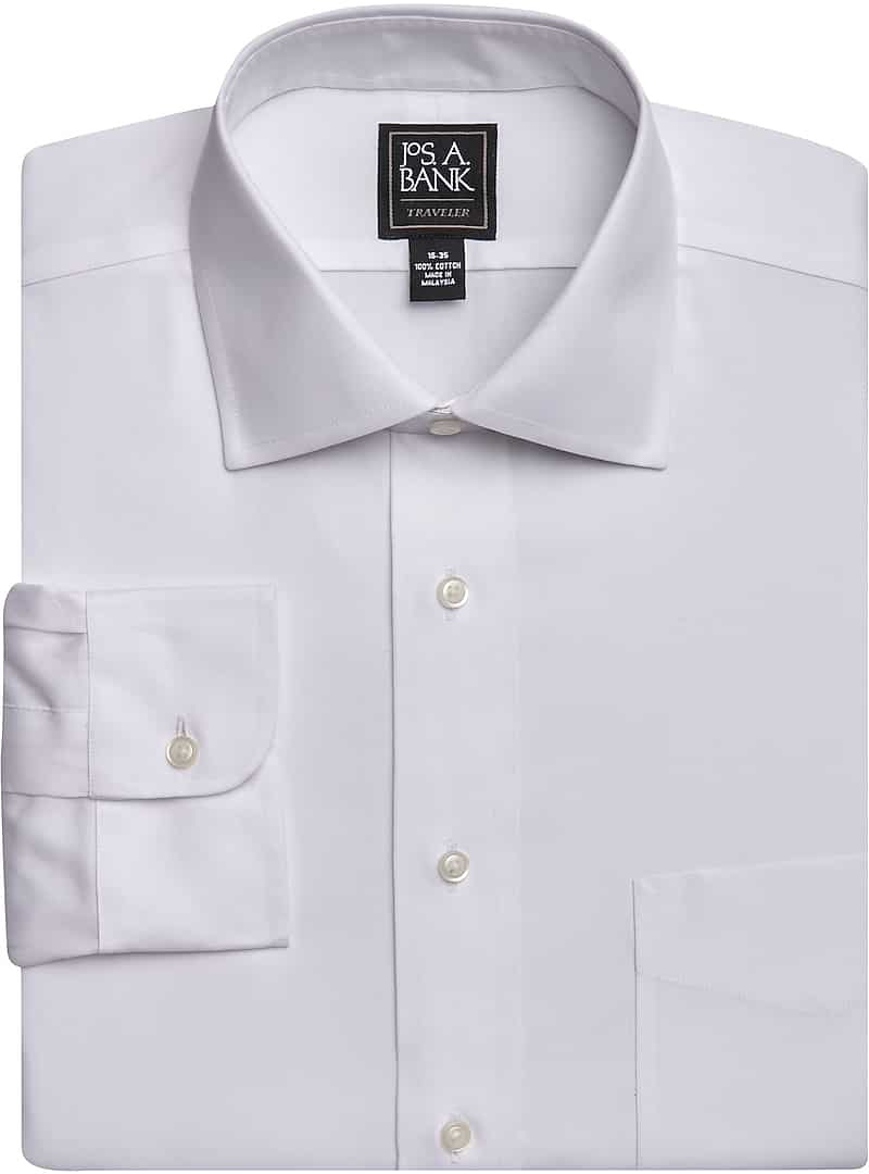 3-Pack Jos. A. Bank Traveler Collection White Dress Shirts