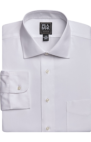 Men's FLYOUT_CATEGORY, Traveler Collection Traditional Fit Spread Collar Dress Shirt - Big & Tall - Jos A Bank