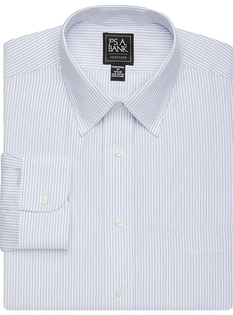 Traveler Collection Traditional Fit Point Collar Dress Shirt