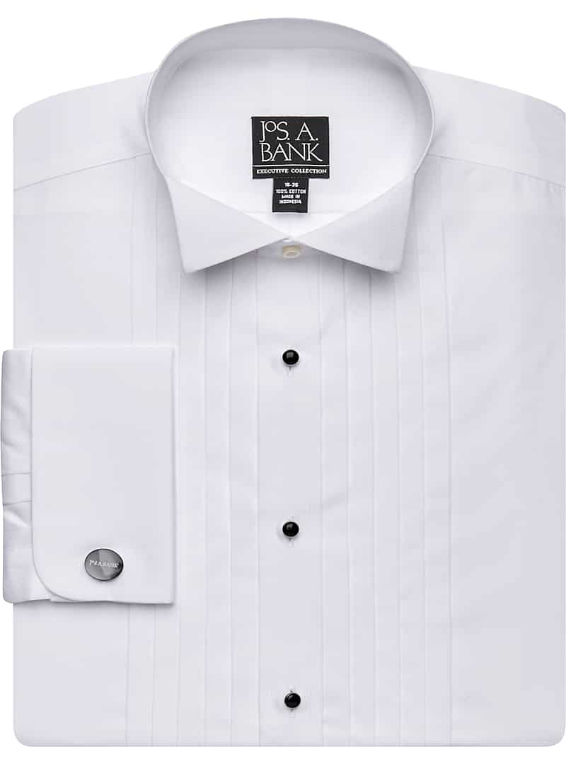 Executive Collection Traditional Fit Wing Collar French Cuff Formal Dress Shirt