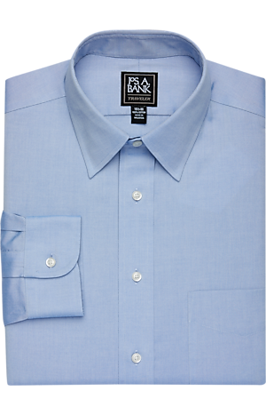 Traveler Collection Traditional Fit Point Collar Dress Shirt - Big & Tall