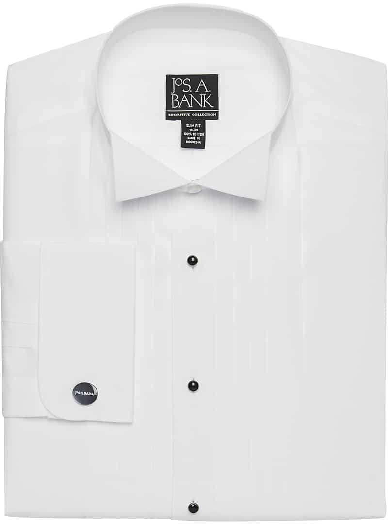Executive Collection Slim Fit Wing Collar Formal Dress Shirt