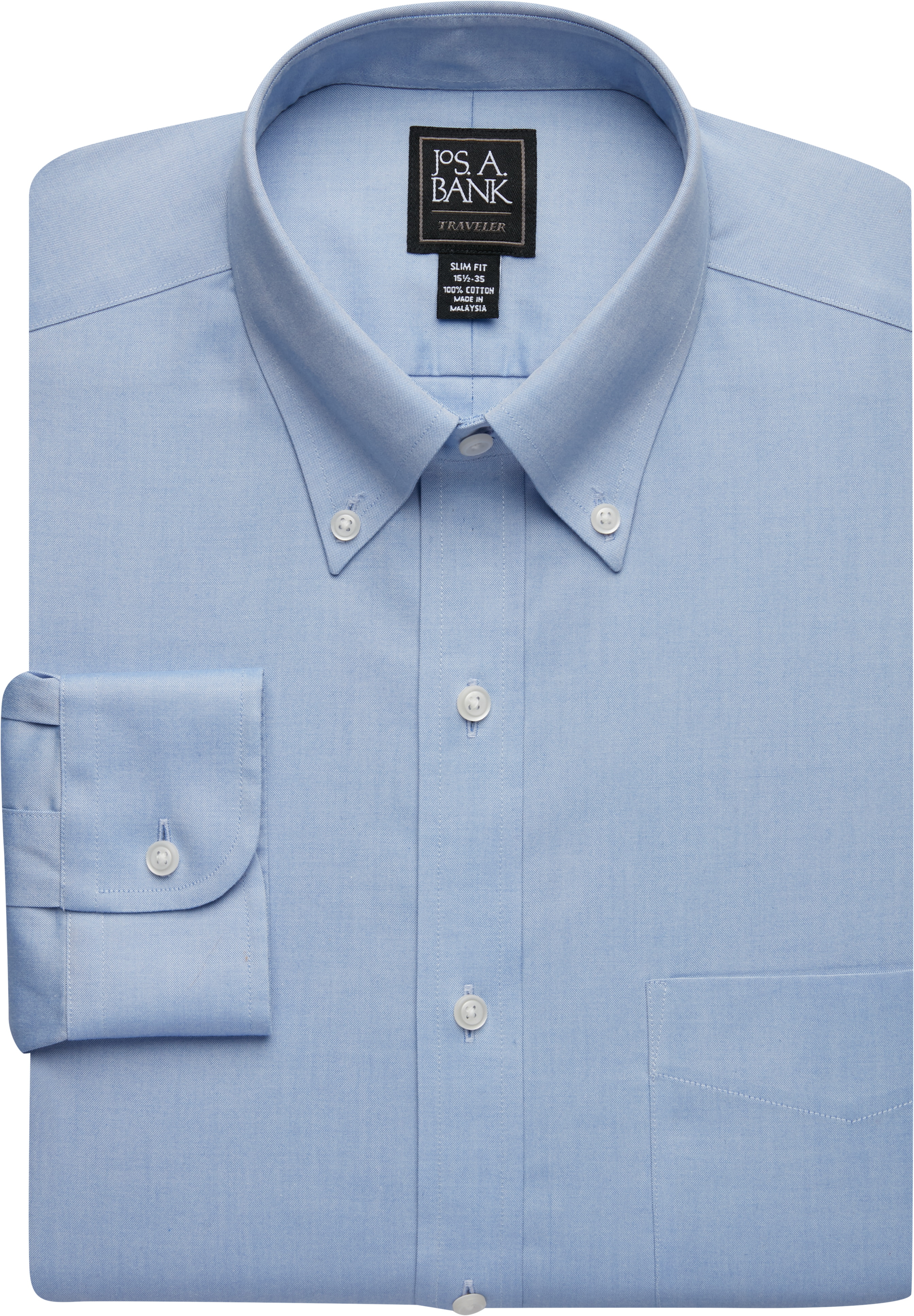 A Jos Bank Traveler Sportshirt Button Collar Fine 80s Two-ply 100/% Cotton