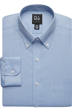 Men's Shirts, Traveler Collection Slim Fit Button-Down Collar Dress Shirt - Jos A Bank