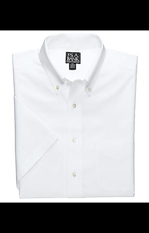 Men's Special Categories, Traveler Collection Tailored Fit Button-Down Collar Short Sleeve Dress Shirt - Jos A Bank