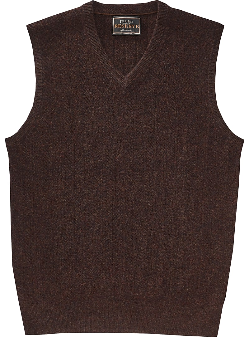 Reserve Collection Cashmere V-Neck Sweater Vest CLEARANCE