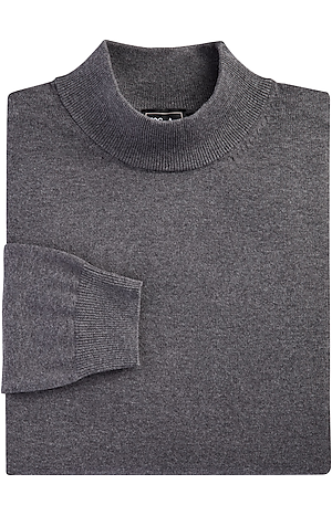 Men's FLYOUT_COLLECTION, Traveler Collection Pima Cotton Mock Neck Sweater - Big & Tall - Jos A Bank