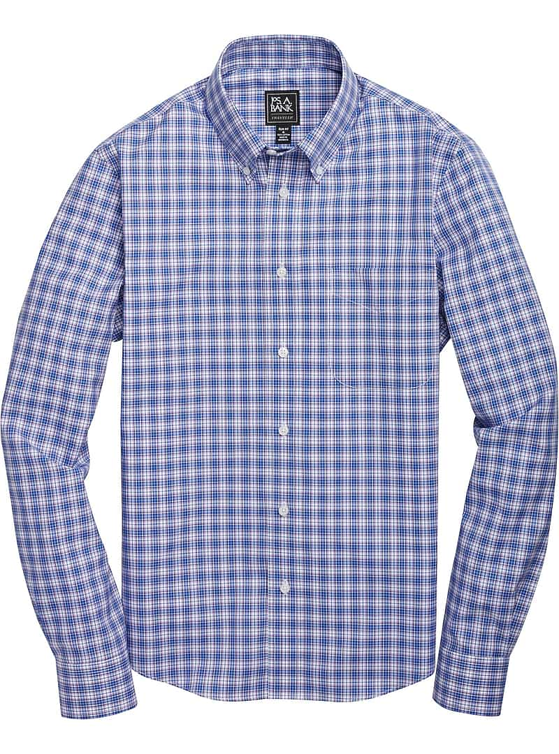 Traveler Collection slim fit Button-Down Collar Check Sportshirt