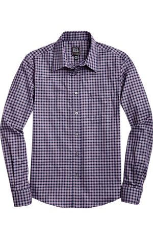Men's Special Categories, Traveler Collection Slim Fit Spread Collar Plaid Sportshirt CLEARANCE - Jos A Bank