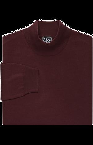 Men's Sale, Traveler Collection Merino Wool Mock Neck Sweater - Jos A Bank