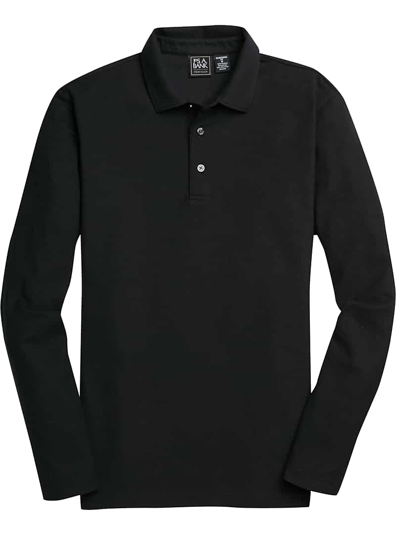 Traveler Collection Traditional Fit Long Sleeve Pique Polo Shirt CLEARANCE