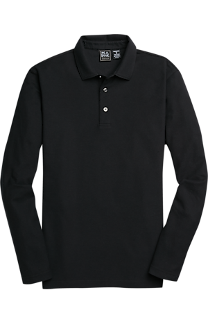Men's Special Categories, Traveler Collection Traditional Fit Long Sleeve Pique Polo Shirt CLEARANCE - Jos A Bank