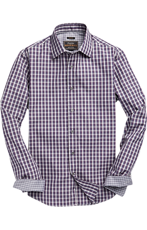 Men's Sale, Reserve Collection Slim Fit Spread Collar Check Sportshirt - Big & Tall - Jos A Bank