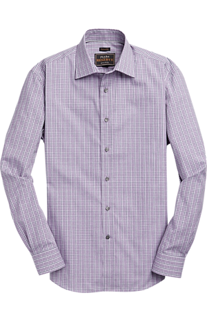 Men's Sale, Reserve Collection Traditional Fit Spread Collar Plaid Sportshirt - Big & Tall - Jos A Bank