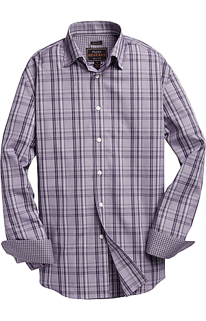 Men's Sale, Reserve Collection Traditional Fit Spread Collar Check Sportshirt - Big & Tall - Jos A Bank