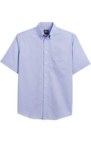 Men's FLYOUT_CATEGORY, Traveler Collection Traditional Fit Button-Down Collar Dobby Short-Sleeve Sportshirt - Big & Tall - Jos A Bank