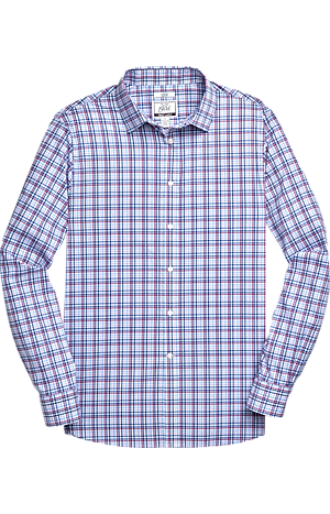 Men's Shirts, 1905 Collection Slim Fit Point Collar Check Sportshirt with brrr°? comfort - Jos A Bank