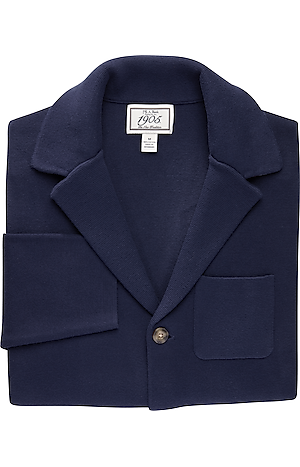 Men's Sweaters, 1905 Collection Tailored Fit Notch Lapel Sweater Jacket - Jos A Bank