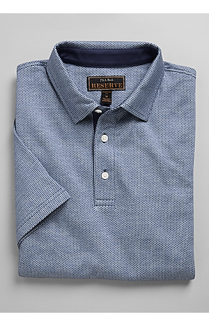 Men's Shirts, Reserve Collection Traditional Fit Short Sleeve Diamond Pattern Polo - Jos A Bank