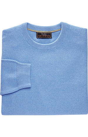 Men's Sweaters, Reserve Collection Tailored Fit Cotton & Cashmere Crewneck Sweater - Jos A Bank