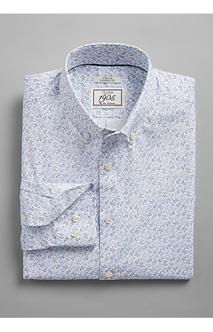 Men's FLYOUT_COLLECTION, 1905 Collection Tailored Fit Button-Down Collar Summer Escape Sportshirt - Big & Tall - Jos A Bank
