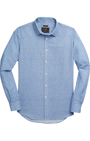 Men's Shirts, Reserve Collection Traditional Fit Spread Collar Linen Blend Sportshirt - Jos A Bank
