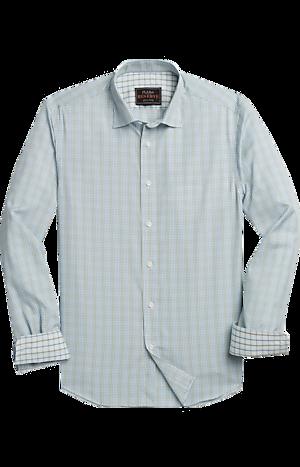 Men's Shirts, Reserve Collection Slim Fit Hidden Button-Down Check Sportshirt - Jos A Bank