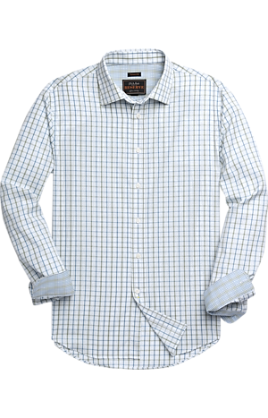 Men's Shirts, Reserve Collection Traditional Fit Spread Collar Check Sportshirt - Jos A Bank