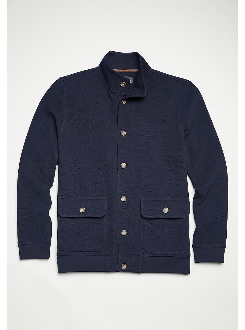 Reserve Collection Men's Cotton Knit Jacket
