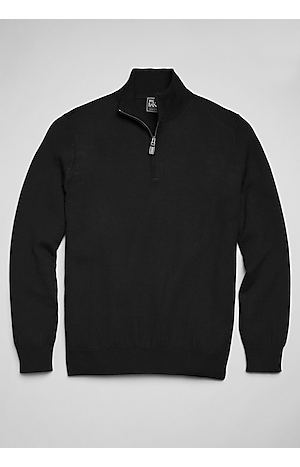 Jos. A. Bank Traveler Collection Merino Wool Quarter Zip Mock-Neck Sweater (various colors/sizes)