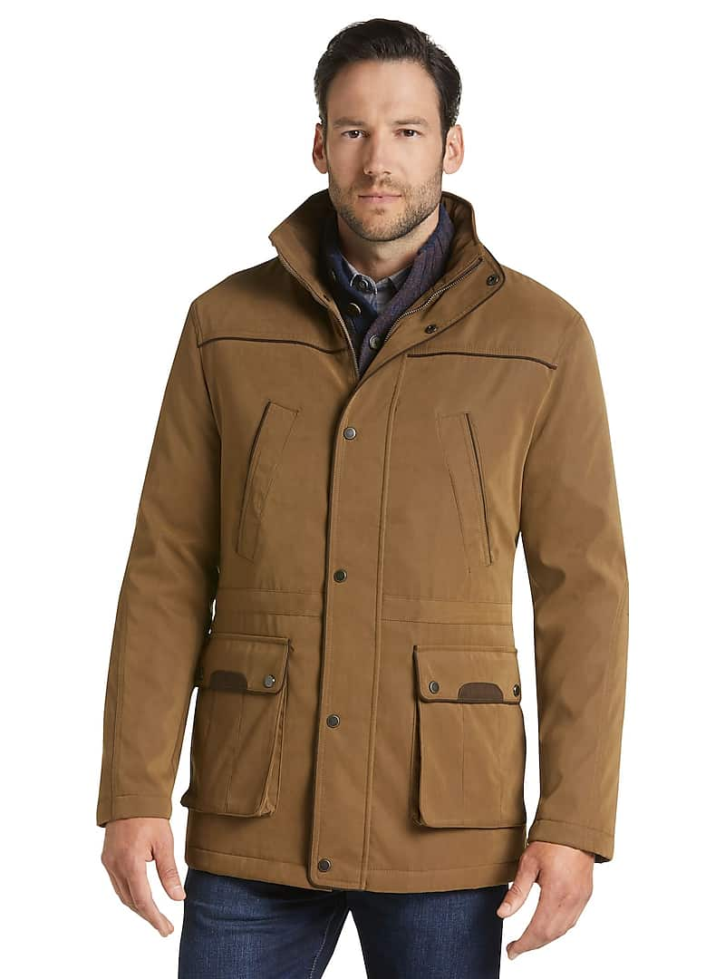 Jos. A. Bank Reserve Collection Mens Traditional Fit Khaki Parka