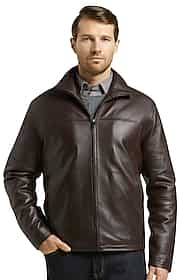 Reserve Collection Traditional Fit Leather Jacket