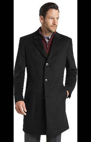 Men's Outerwear, Joseph A. Bank Tailored Fit Wool-Blend Topcoat - Jos A Bank
