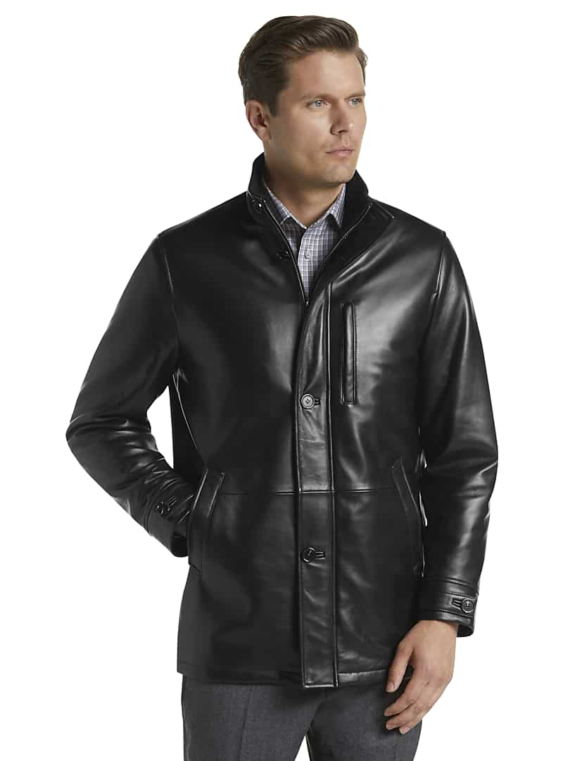 Jos. A. Bank Men's Reserve Collection Traditional Fit Leather Jacket