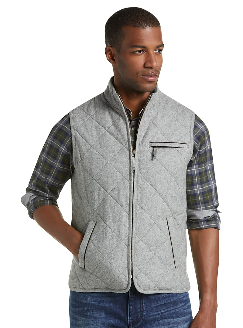 1905 Collection Tailored Fit Quilted Vest - Big & Tall CLEARANCE