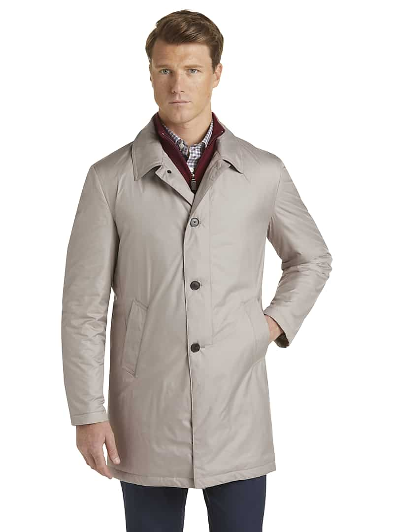 Jos A Bank Travel Tech Tailored Fit Trench Coat
