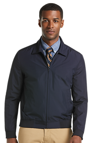 Men's Outerwear, 1905 Collection Tailored Fit Hybrid Bomber Jacket - Jos A Bank