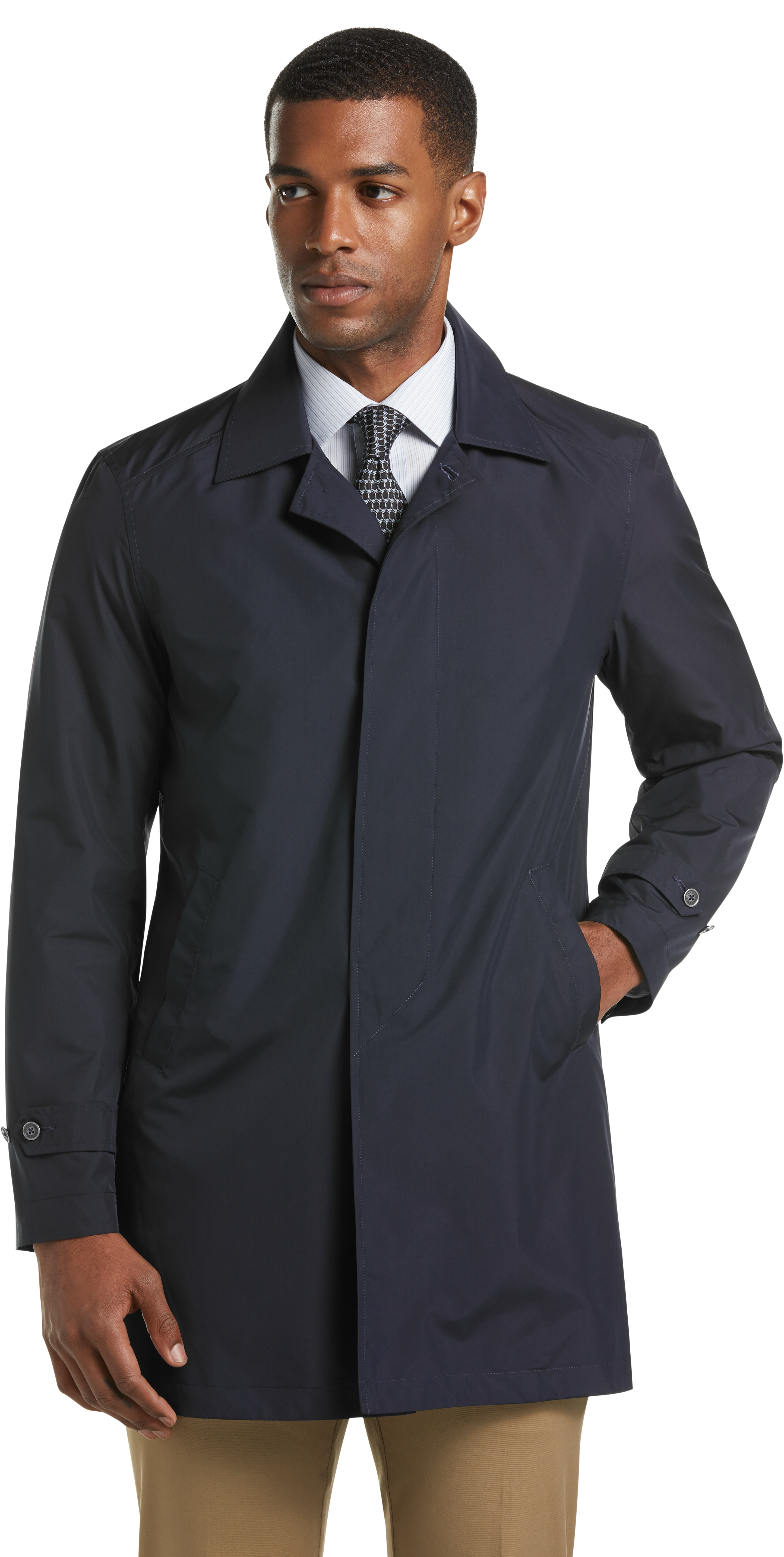 Traveler Collection Tailored Fit Packable Trench Jacket