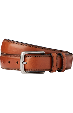 Men's FLYOUT_CATEGORY, Jos. A. Bank Stitch- Edged Leather Belt - Long - Jos A Bank