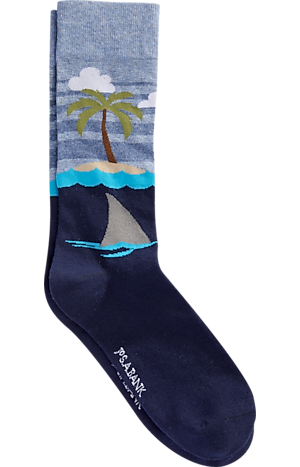 Men's Accessories, Jos. A. Bank Tropical Island Dress Socks - Jos A Bank