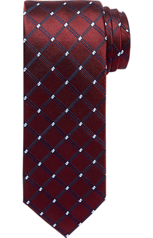 Men's FLYOUT_CATEGORY, Traveler Collection Windowpane Tie - Long - Jos A Bank